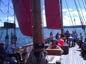 On board sailing experience